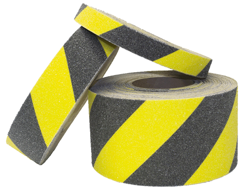 Black and Yellow Hazard Anti-Slip Safety Tape