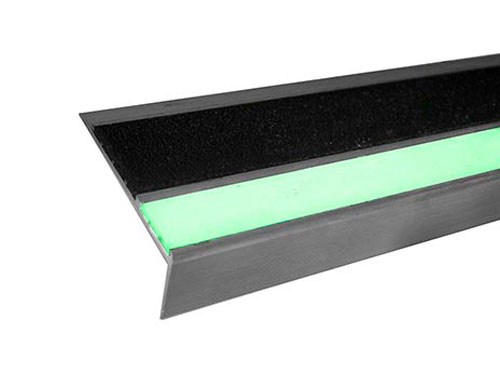 4in Double Cavity Glow Aluminum Stair Tread