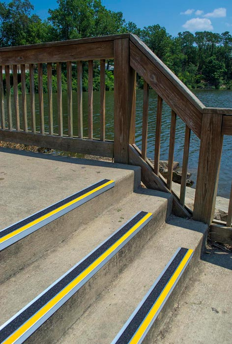 Non-Slip Stair Treads for Concrete Applications