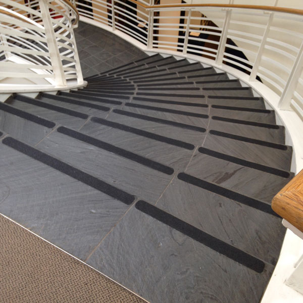 Custom Cut Tape install on University stairs