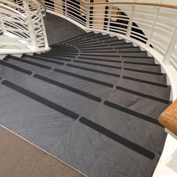 Custom Cut Tape install on University stairs