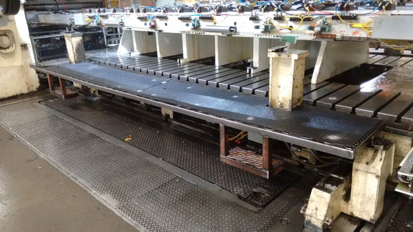 Fiberglass Panels on CNC Machine Walkway