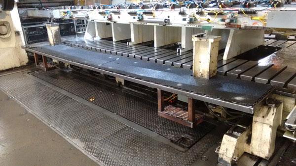 Fiberglass Panels on CNC Machine Walkway