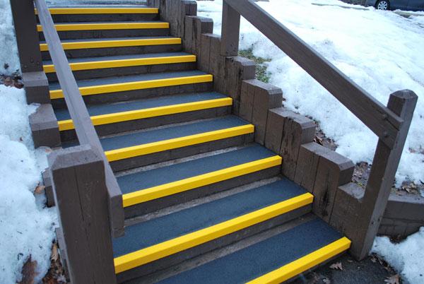 Fiberglass Step Covers MetroParks Steps installation