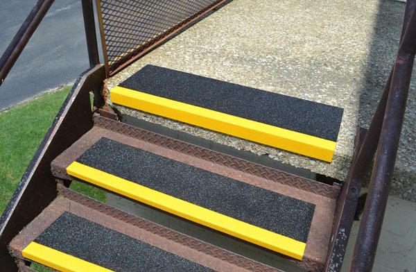 Fiberglass Step Cover install on Cement Steps