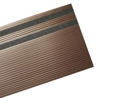 Brown Grit Slip Resistant Vinyl Stair Tread