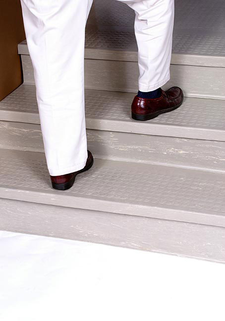 Anti-Slip Rubber Stair Treads Installation