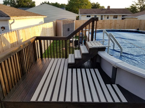 Non-Slip Deck Plates on Pool Deck