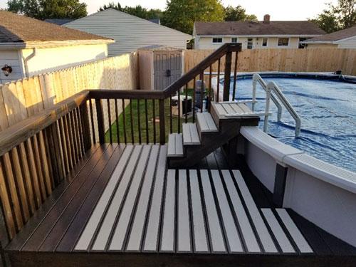 Non-Slip Deck Plates on Pool Deck
