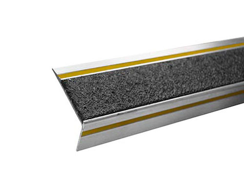 "2.6"" One-Color Single Cavity Aluminum Stair Tread with 90˚ Nose"