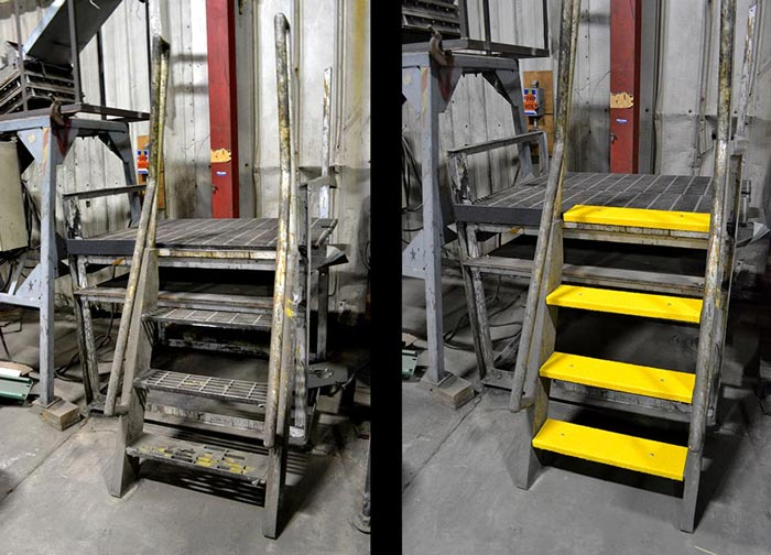 Grit-Coated Fiberglass Step Covers