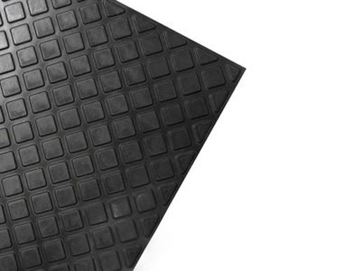 Black Heavy Duty Slip Resistant Rubber Tile