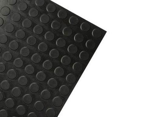 Black Modern Slip Resistant Rubber Tile