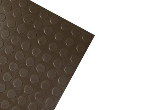 Dark Brown Modern Slip Resistant Rubber Tile