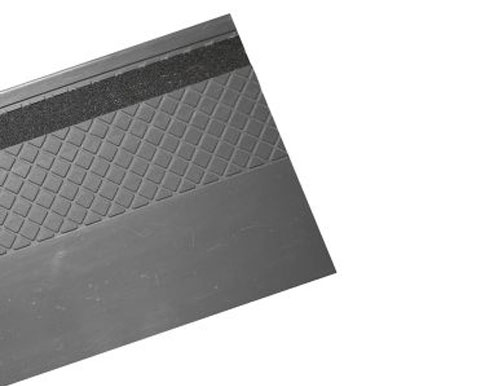 Slate Grey Heavy Duty Slip Resistant Rubber Stair Tread With Grit