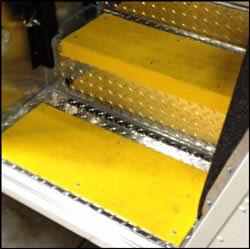 Yellow FRP Step Cover Medium Grit